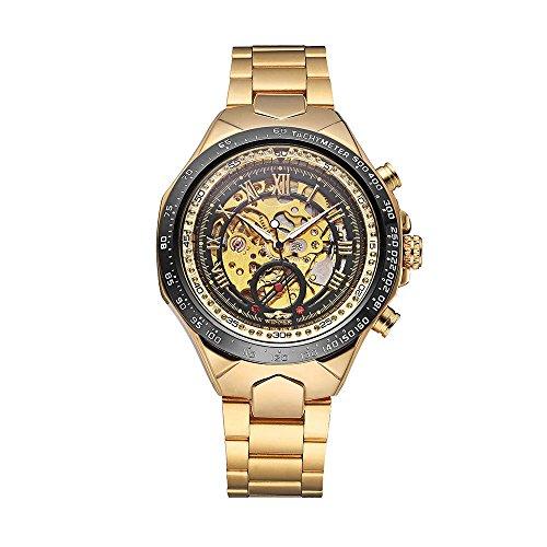 Relógio mecânico Zwbfu VENCEDOR de alta qualidade esqueleto semi auático homens mecânicos relógio grande dial mão-enrolamento homens de negócios relógio de pulso