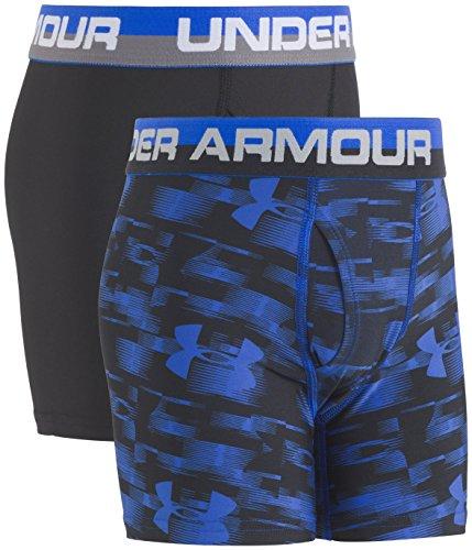 Under Armour Boys' Big Performance Boxer Briefs, ultra blue/black, YXL