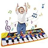 Ballery Piano Matte, Kinder Spielzeug Musik Matte Keyboard Matte Klaviermatte Tanzmatte Musikmatten Baby für Kleinkind Jungen Mädchen, 5 Modi & 8 Spielzeug Touch Musical Teppich(110 * 36cm) -