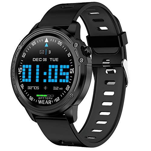 JIAJBG Podómetros para Caminar Reloj Elegante para la Presión Hombres Mujeres Hr Rastreador de Ejercicios Bluetooth Deportes Cámara Rastreadores Sangre Del Ritmo Cardíaco Del Monito