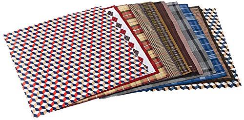 LEEVO Handkerchief Men Assorted Woven Cotton 100% Hankies Fashion 4pack Bulk Value Pack...