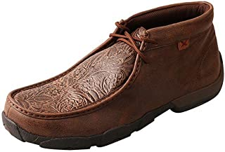 Twisted X Mens Brown Print Driving Mocs