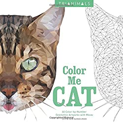 60 Cat Designs Are Made Up Of Hundreds Triangles That When Filled In Transform A Flat Illustration Or 2D Piece Work Into 3D Image