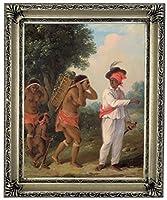 歴史美術ギャラリー西インド人の男額入りキャンバスプリント11 x 14インチシルバー