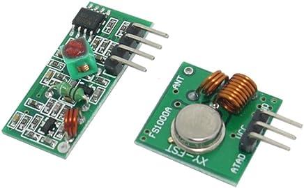 XCSOURCE 3pcs 433Mhz RF Transmitter Receiver Module Alarm Link Super Regeneration Kit for Arduino RasPi ARM MCU Wireless TE934