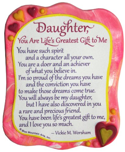Sculpted Magnet: Daughter You are Life's Greatest Gift to Me, 3.0