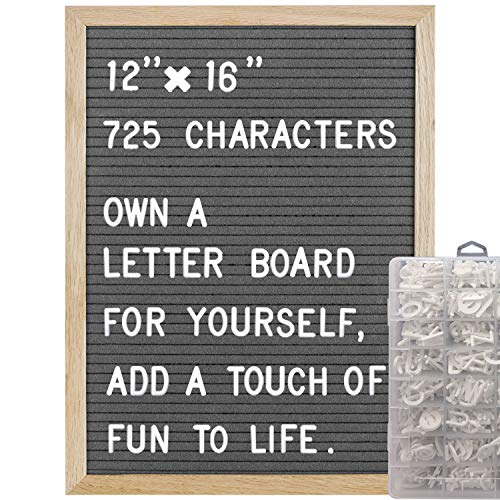 COSFLY Felt Letter Board with Letters 12 x 16 inches, Changeable Message Board with Easel Stand Include 725 Changeable Characters