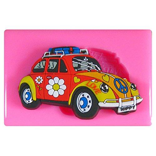 Blume Energie Hippy VW Käfer Silikon Form für Kuchen Dekorieren, Kuchen, kleiner Kuchen Toppers, Zuckerglasur Sugarcraft Werkzeug durch Fairie Blessings