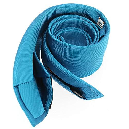 Tony & Paul - Cravate Soie 6 Plis, Cobalto, Faite à La Main