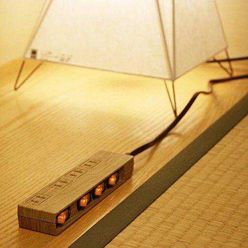 『Fargo 木目調の極みを求めて設計し、節電管理を可能にしたインテリア 電源タップ スイッチ付 雷ガード 雷サージ 4個口 インテリア 延長コード 延長ケーブル 電気コード マルチタップ プラグ 1.5m』の4枚目の画像