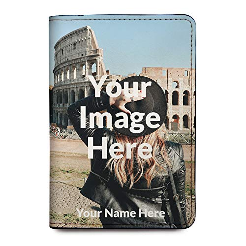 Personalized Leather RFID Passport Holder Cover - Upload Your Image