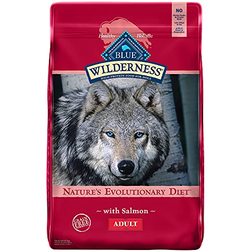 Blue Buffalo Wilderness High Protein, Natural Adult Dry Dog Food, Salmon 11-lb
