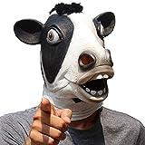 CreepyParty Halloween Kostüm Party Tierkopf Latex Maske Milchkuh