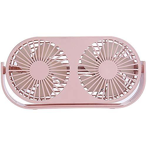 JDD Mini Ventilateur de Bureau Ventilateur Personnel Portable en USB 3 Vitesses Réglables Aussi Bien pour l'intérieur et l'extérieur,Rose