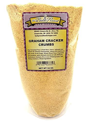 Graham Cracker Crumbs, Bulk Size (1.5 lb. Resealable Zip Lock Stand Up Bag)