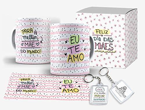 Caneca Personalizada Presente Dia das Mães Frase Grátis Caixinha + Brinde - Mod.6