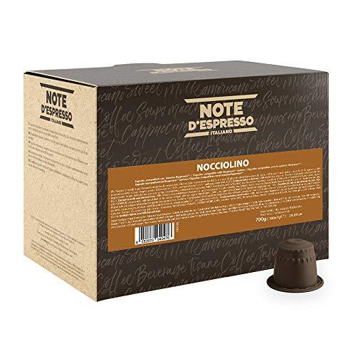Note D'Espresso Cápsulas de Bebida Instantánea de Avellana - 100 Unidades de...