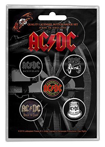 For Those About to Rock Button Badge Set