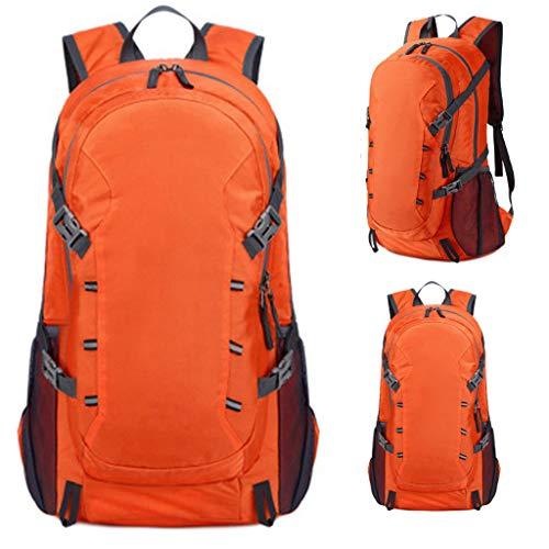 Bike Backpack, Waterproof Breathable Cycling Bicycle Rucksack Ultralight Biking Daypack Sport Bags Gift for Fitness Running Hiking Climbing Camping Skiing Biking Trekking (Orange)