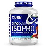 USN Supplements Zero Carb IsoPro 100% Whey Protein Isolate Powder - Keto Friendly, Sugar Free and Low Calorie, Wheytella, 4 Pounds