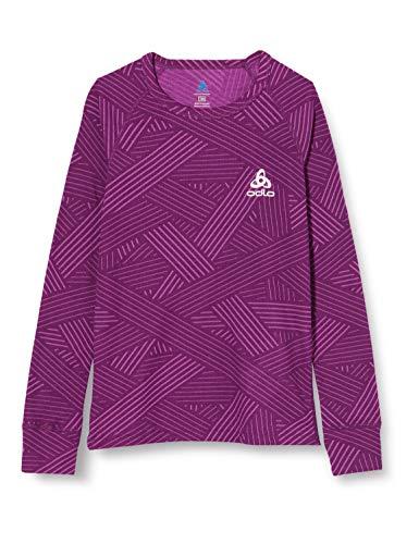 Odlo Camiseta Interior Unisex Infantil Bl Top Crew Neck L/S Active Warm Trend Kids, Unisex niños, Camiseta, 150519, Charisma FW20 - Tarjeta gráfica, 140