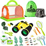 Outdoor Explorer Set, Upgraded 2021 Nature Exploration Kit for Kids with Binoculars, Compass and Butterfly Net Great Toys Kids Gift for Boys & Girls Age 3-12 Year Old Camping Hiking (25PCS)