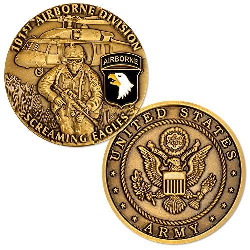 U.S. Army 101st Airborne Division Screaming Eagles Challenge Coin
