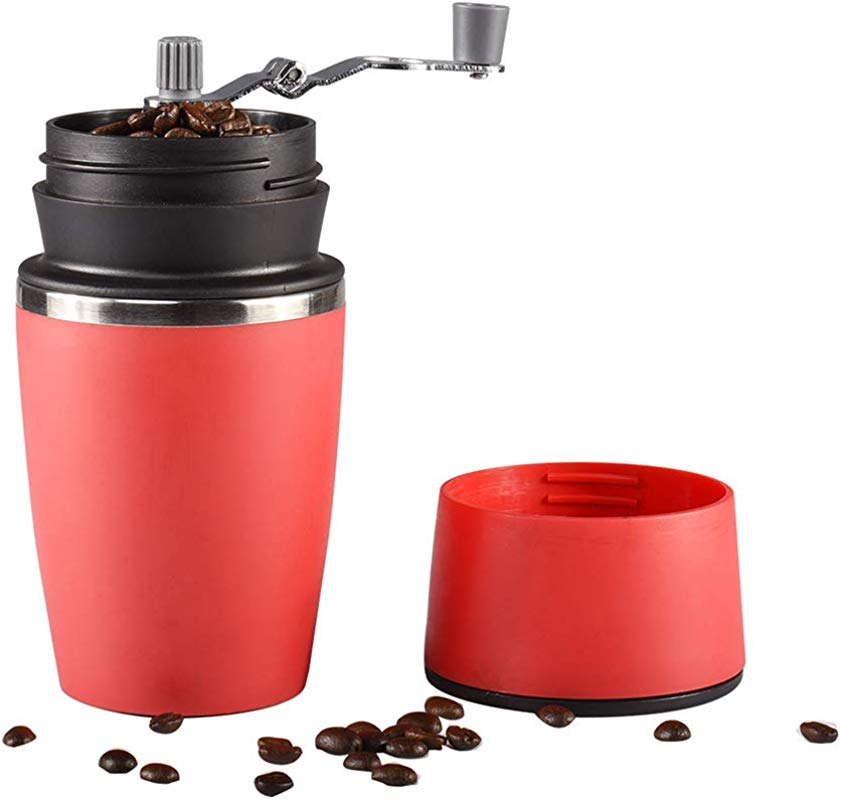 Portable Manual Coffee Grinder Stainless Steel Travel Coffee Maker With Filter And Vacuum Sealed Tumbler Cup For Home Travel Camping Office Outdoors