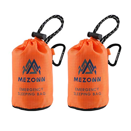 Mezonn Emergency Sleeping Bag Survival Bivy Sack Use as Emergency