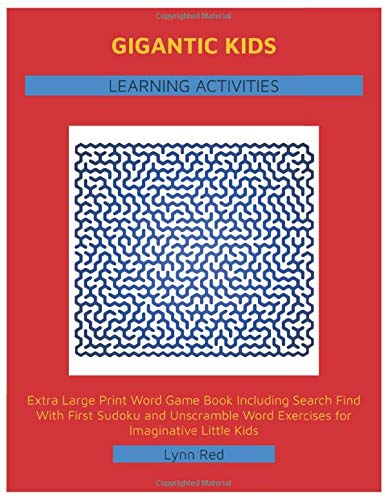 Gigantic Kids Learning Activities: Extra Large Print Word Game Book Including Search Find With ...