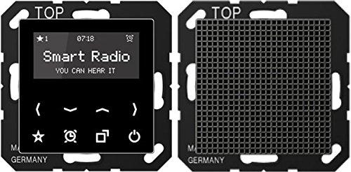 Jung Rad A 518 SW Smart Radio - Set Mono Serie A schwarz, 2.5 W