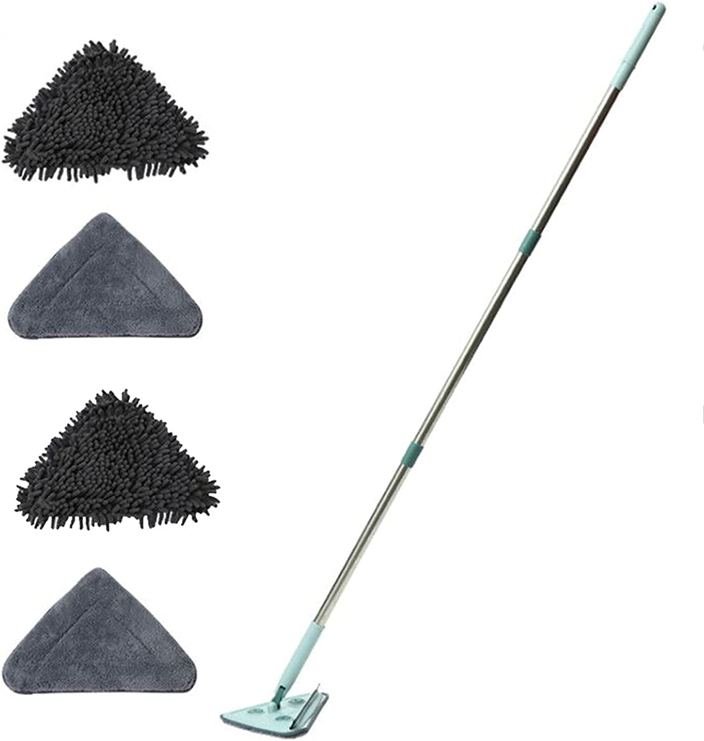Memphis Mall Triangular Clean Long-awaited Mop Rotating Adjustable Handle with Telescoping