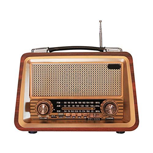 Radio Retro De Madera, Radio Am SW FM, Altavoz Inalámbrico