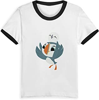 Puffin Rock Oona Baba Printed Unisex Youth's Short Sleeve T-Shirt, Kids T-Shirt Tops