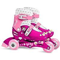 Stamp Sas-Princess Adjustable Two in One 3 Wheels Skate Size 27-30, Color Pink, (J100830)