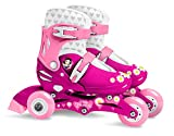 Stamp Sas- Princess Adjustable Two in One 3 Wheels Skate Size 27-30, Color Pink, Sizes (J100830)