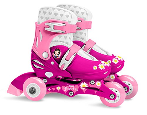 Stamp Sas-Princess Adjustable Two in One 3 Wheels Skate Size 27-30, Color Pink, (J100830)