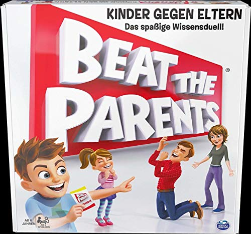 Spin Master Games 6040749 - Beat the Parents, spannendes Wissens - Duell Kinder gegen Eltern
