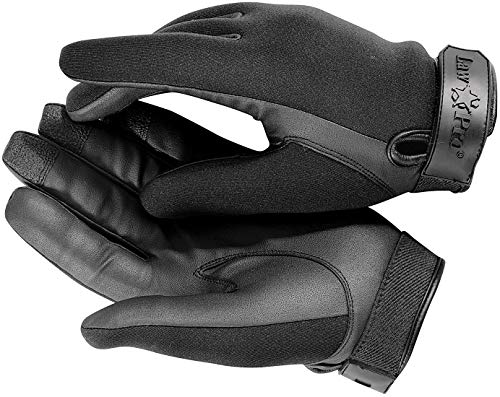 LawPro Kevlar Neoprene Black Tactical Police Uniform Gloves - Cut & Flame Resistant