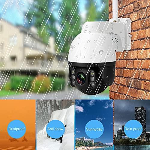 Cámara de Seguridad, cámara de Domo de Seguimiento automático de Tipo Humano Ptz de visión Nocturna giratoria de 50 M / 164 pies, amplios ángulos de visión para el Dormitorio de la casa(Transl)