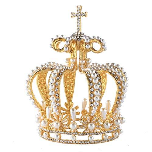 auvwxyz Tiaras brautkrone Kopfschmuck brautkleid Perle Krone Haarschmuck fotostudio zubehör, Stil 13