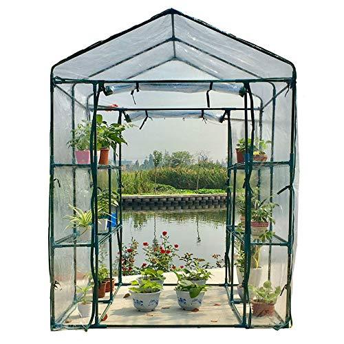 HWLL Gran Patio con Jardín Al Aire Libre Invernadero Sin Cita, Jardín Casa Plantas Suculentas Flores Planta Verde Aislamiento Familia