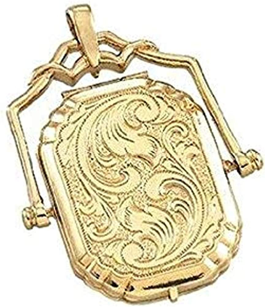 PicturesOnGold.com Solid Award 14K Yellow Gold 3 Large Swivel - Locket Ranking TOP3