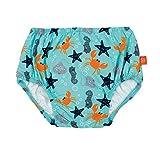 LSSIG Baby Schwimmwindel Badewindel wiederverwendbar waschbar Auslaufschutz Junge Mdchen UV-Schutz 50+/Splash & Fun Baby Swim Diaper, Star Fish, 6 Monate, mehrfarbig