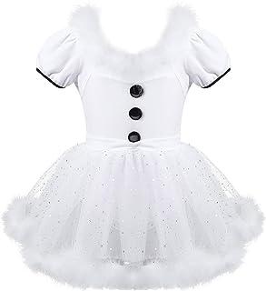 Aislor Enfant Fille Robe de Princesse Mariage Noël Costume De Danse Patinage Robe de Baptême Cocktail Hiver Robe Fille Man...