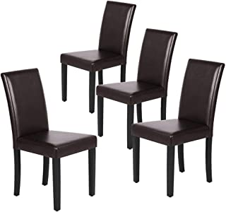Yaheetech Dining Chair Living Dining Room PU Cushion...