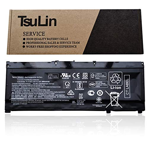 TsuLin SR04XL Laptop Battery Compatible with HP Pavilion 15-CB000 Power 15-CB000 15-CE015DX 15-CE000 15-DC0000 Series 917678-1B1 HSTNN-IB7Z HSTNN-DB7W 917724-855 917678-2B1 15.4V 70.07Wh 4550mAh