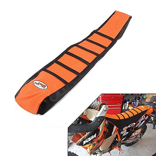JFGRACING Naranja/Negro Motorcycle Gripper Cubierta de Asiento de Moto Suave para KTM 65 85 125 200 250 300 400 450 525 SX EXC MXC 03-07