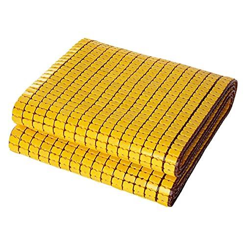 ESGT Colchoneta De Enfriamiento De Verano Plegable, Suave, Lavable, Duradero, Carbonizado, Colchón De Bambú Mahjong, para Dormitorio, Doble Almohadilla para Dormir para Estudiantes