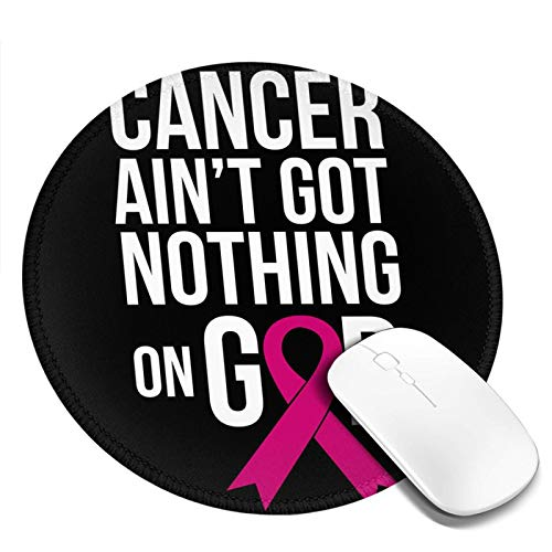 Survivor Pink Ribbon Breast Cancer Customized Designs Non-Slip Rubber Base Gaming Mouse Pads for Mac,7.9x7.9 in, Pc, Computers. Ideal for Working Or Game